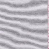 *3 YD PC--Steel Grey/Off White Stripe Jersey Knit