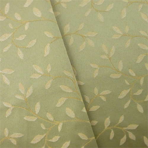 Green Beige Vine Satin Jacquard Home Decorating Fabric