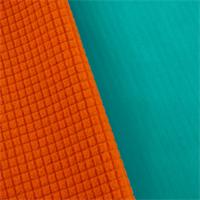 ** 7yd pc - Turquoise/Orange Waterproof Stretch Soft Shell Grid Fleece
