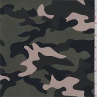 Olive/Beige/Black Camo Jersey Knit
