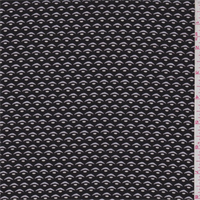 *5/8 YD PC--Black/Grey Mini Print Rayon Challis