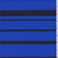 *2 5/8 YD PC--Larkspur Blue/Black Stripe Double Knit