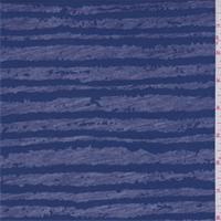 Deep Blue Wavy Stripe Burn Out T-Shirt Knit