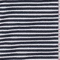 Dark Blue/White Stripe Sweater Knit