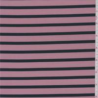 *3 YD PC--Rose/Black Stripe Swimwear