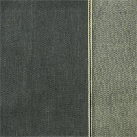 *1 YD PC--Gray Cotton Selvedge Denim