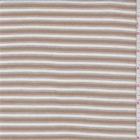 White/Tan Stripe Cotton Knit