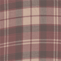 *3 3/8 YD PC--Wine/Camel Plaid