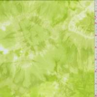 Lime Green Tie Dye Activewear Knit