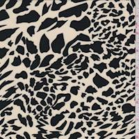 Buff/Black Animal Print Peachskin