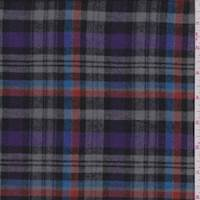 Grey/Purple Plaid Flannel