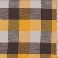 Gold/Brown/Ivory Buffalo Plaid Flannel
