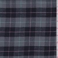 Grey/Black Plaid Flannel
