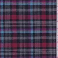 Grey/Red Plaid Flannel