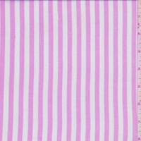 Pink/White Stripe Rayon Challis