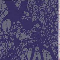 Purple/Grey Abstract Rayon Challis