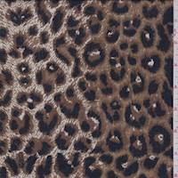 Brown/Black Cheetah Print Rayon Challis