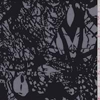Black/Grey Abstract Rayon Challis