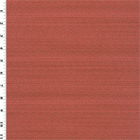 *1 YD PC--Coral Red Caraway Herringbone Home Decorating Fabric
