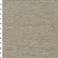 *1 YD PC--Designer Taupe Gray/Silver Streak Chenille Home Decorating Fabric