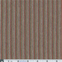 *2 1/2 YD PC--Rust/Olive/Black Awning Stripe Plaid