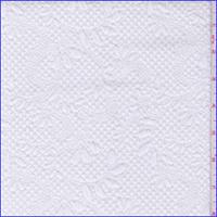 *1 1/8 YD PC--Off White Botanical Medallion Jacquard