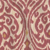 *5 1/2 YD PC-Red/Beige Ogee Cotton Print Home Decorating Fabric