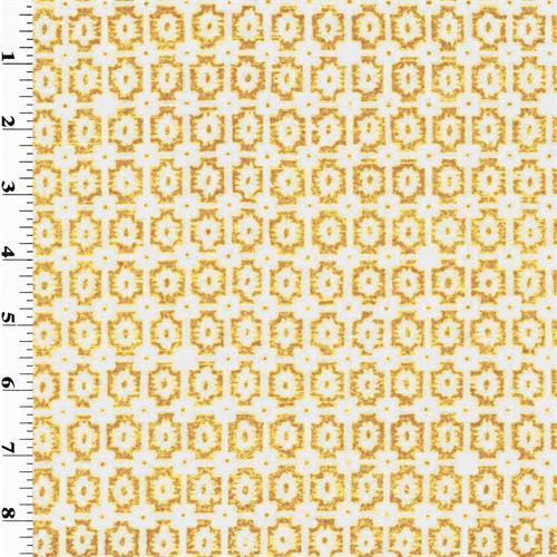 mustard moroccan print blouse