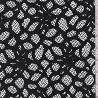 *3 YD PC--Black Pebble Lace