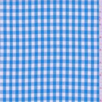 *4 YD PC--Aqua Blue Gingham Check Cotton Shirting