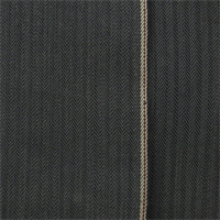 *1 YD PC--Gray Cotton Herringbone Selvedge Denim