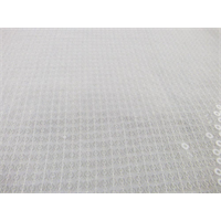 *1 1/8 YD PC--White Sequin Chiffon