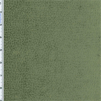 *2 1/8 YD PC--Moss Olive Green Reptile Faux Velvet Decorating Fabric