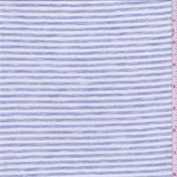 *3 1/4 YD PC--White/Sky Blue Stripe T-Shirt Knit