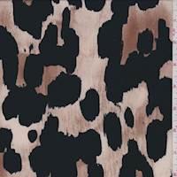 ITY Beige/Black Animal Print Jersey Knit