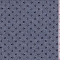Heather Navy Mini Floral Chambray