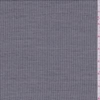 Black/Pale Grey Wool Blend Suiting