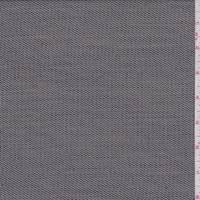 Black/Sterling Grey Wool Blend Stripe Suiting