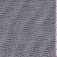 Black/White Wool Blend Mini Dot Stripe Suiting