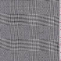 Ivory/Black Glen Plaid Wool Blend Suiting