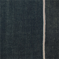*1 1/2 YD PC--Azalea Blue Cotton/Linen Chambray Selvedge Denim