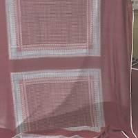 *4 5/8 YD PC--Wine Red Print Silk Chiffon