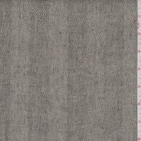 Natural/Black Herringbone Stripe Linen