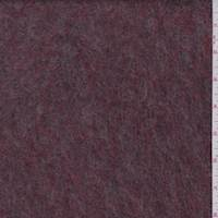 Berry Red/Taupe Boiled Wool Knit