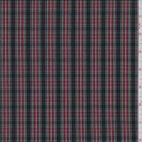 Black/Red Plaid Shirting