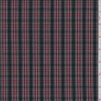 Black/Red Plaid Shirting