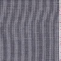 Black/Pale Grey Stripe Rayon Blend Suiting