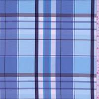 Cadet Blue Plaid Taffeta