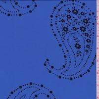 *3 3/8 YD PC--Periwinkle Paisley Print Rayon Challis