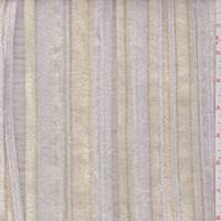 Dark Ivory Eyelash Stripe Organza